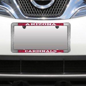 Arizona Cardinals Metal Thin Rim Acrylic Laser-Cut License Plate Frame