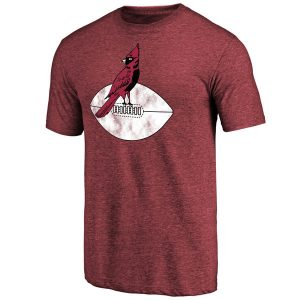 Arizona Cardinals NFL Pro Line Throwback Logo Tri-Blend T-Shirt