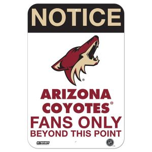 Arizona Coyotes Fans Only 8×12 Aluminum Sign