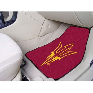 Fanmats Arizona State University Sun Devils 2-piece Carpeted Car Mats 17″x27″