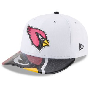 Men's Arizona Cardinals New Era White 2017 NFL Draft On Stage Low Profile 59FIFTY Fitted Hat