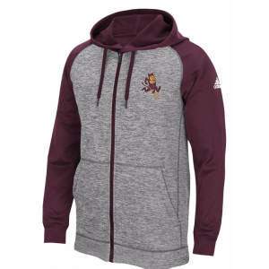 ADIDAS COLLEGE PRIMARY LOGO FULL-ZIP HOODIE – MEN'S