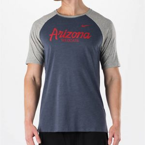 Men's Nike Arizona Wildcats College Script Tri-Blend Raglan Shirt