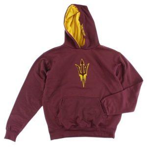 Old Varsity Boys Arizona State Sun Devils College Pullover Hoodie Burgundy