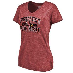 Women's Arizona Cardinals NFL Pro Line Crimson Hometown Collection The Nest Tri-Blend T-Shirt