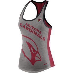 Women's Arizona Cardinals Nike Gray/Cardinal Touchdown Tri-Blend Performance Tank Top