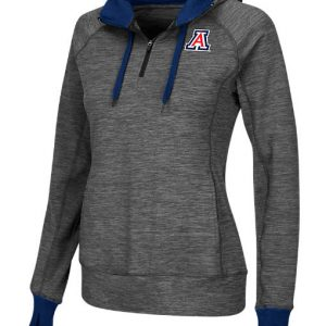 Women's Stadium Arizona Wildcats College Double Back Half-Zip Jacket