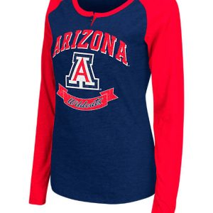 Women's Stadium Arizona Wildcats College Long-Sleeve Healy Raglan T-Shirt