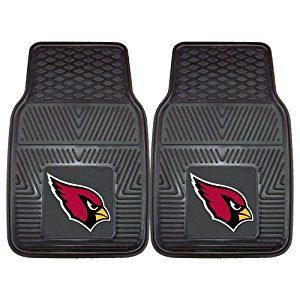 FANMATS NFL Arizona Cardinals Vinyl Heavy Duty Car Mat (Front)