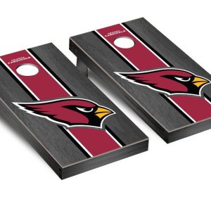 Onyx Stained Stripe Version 2 Football Corn hole Game Set (one size)