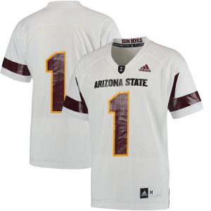 #1 Arizona State Sun Devils White Replica Football Jersey