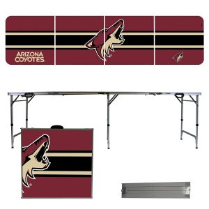 Arizona Coyotes 8 Foot Portable Folding Tailgate Table Stripe