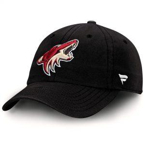 Arizona Coyotes Black Fundamental Adjustable Hat