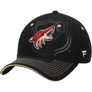 Arizona Coyotes Black Shield Flex Hat