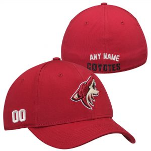 Arizona Coyotes Cardinal Custom Name & Number Stretch Fit Hat