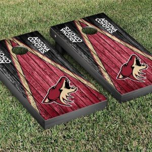 Arizona Coyotes NHL Cornhole Game Set Weathered