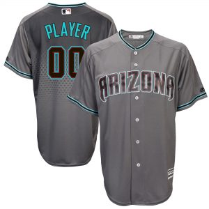 Arizona Diamondbacks Gray/Turquoise 2017 Cool Base Custom Jersey