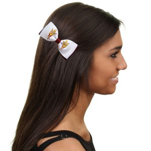 Arizona State Sun Devils Bow Pair Clips