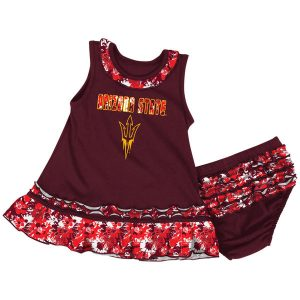 Arizona State Sun Devils Girls Infant Maroon Fountain Dress and Bloomers Set
