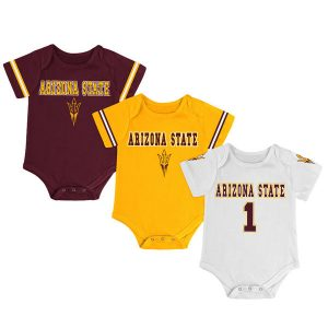 Arizona State Sun Devils Newborn & Infant Maroon/Gold/White Game Day 3-Pack Bodysuit Set
