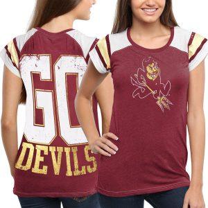 Arizona State Sun Devils Women's Maroon Metallic Trace