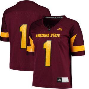 Arizona State Sun Devils Women's Maroon Football Jersey