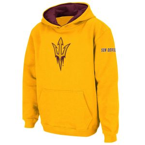 Arizona State Sun Devils Youth Gold Big Logo Pullover Hoodie