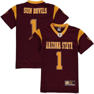 Arizona State Sun Devils Youth Maroon Football Jersey