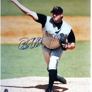 Brandon Webb Pitching Away Jersey Day Game Vertical 16×20 Photo (SOP Auth)