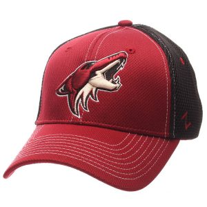 Coyotes Garnet/Black Rally Spacer Mesh Flex Hat