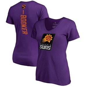 Devin Booker Phoenix Suns Women's Purple Backer V-Neck T-Shirt