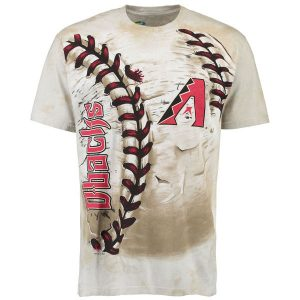 Diamondbacks Cream Hardball Tie-Dye T- Shirt