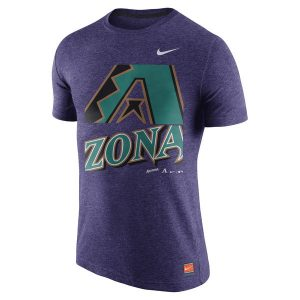 Diamondbacks Nike Heathered Purple Cooperstown Collection Logo