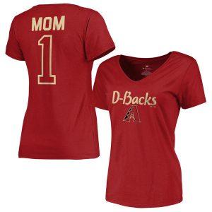 Diamondbacks Red 2017 Mother's Day #1 Mom V-Neck