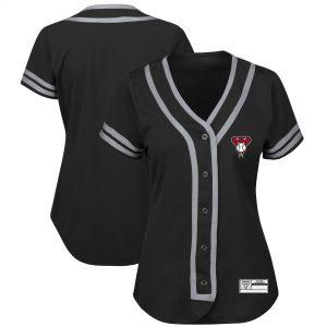 Diamondbacks Women's Black/Gray Absolute Victory Fashion Team Jersey