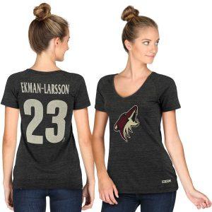 Ekman-Larsson Arizona Coyotes Women's Black Name & Number V-Neck