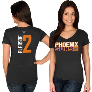 Eric Bledsoe Phoenix Suns Women's Black Name & Number V-Neck T-Shirt