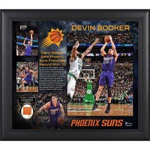 Fanatics Authentic Devin Booker Phoenix Suns Framed 15″ x 17″ 70 Point Collage with Piece of 2015-2016 Team-Used Basketball – Limited Edition of 70