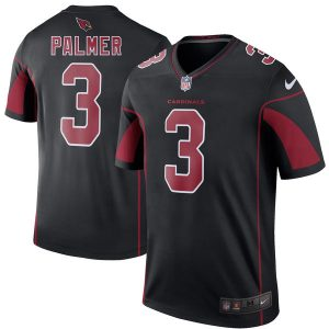 Men's Arizona Cardinals Carson Palmer Nike Black Color Rush Legend Jersey