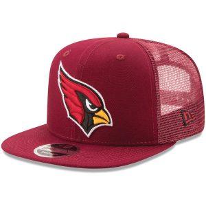 Men's Arizona Cardinals New Era Cardinal Trucker Patched 9FIFTY Snapback Adjustable Hat