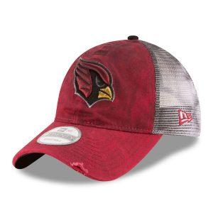 Men's Arizona Cardinals New Era Cardinal/White Team Rustic 9TWENTY Adjustable Hat