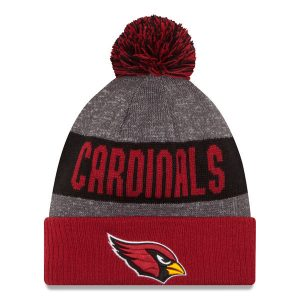 Men's Arizona Cardinals New Era Heather Gray Sideline Official Sport Knit Hat
