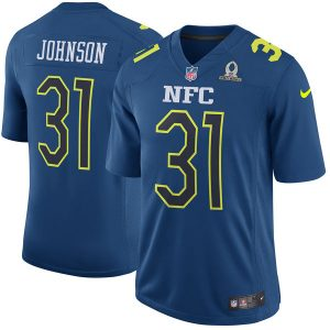 Men's NFC David Johnson Nike Navy 2017 Pro Bowl Game Jersey