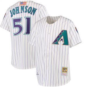 Mitchell & Ness Randy Johnson Arizona Diamondbacks White Authentic Jersey