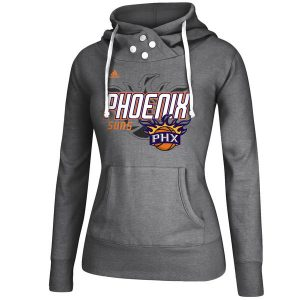 Phoenix Suns Women's Gray Distressed Back Logo Hoodie