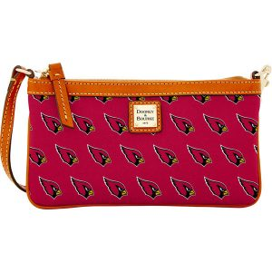 Women's Arizona Cardinals Dooney & Bourke Cardinal Large Slim Wristlet
