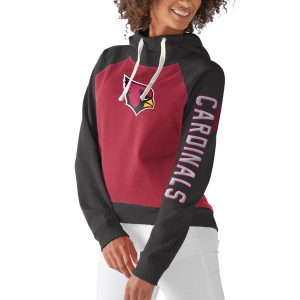 Women's Arizona Cardinals G-III 4Her by Carl Banks Cardinal Scrimmage Pullover Hoodie
