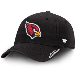 Women's Arizona Cardinals NFL Pro Line Black Fundamental Adjustable Hat