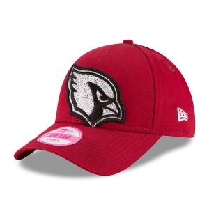 Women's Arizona Cardinals New Era Cardinal Glitter Glam 2 9FORTY Adjustable Hat
