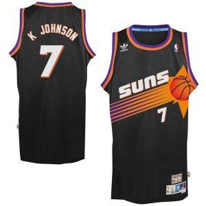 adidas Kevin Johnson Phoenix Suns Black Hardwood Classics Swingman Jersey